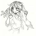 [言語擬人化]Perl娘のラフ描いてみました。