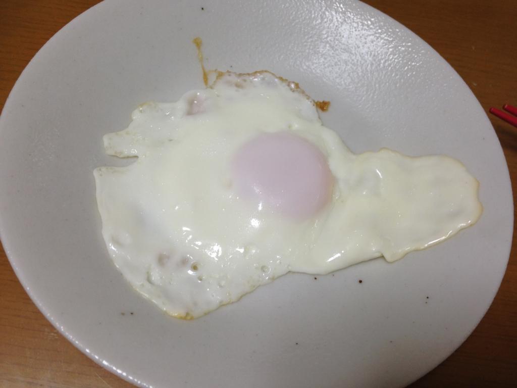 初卵の目玉焼き