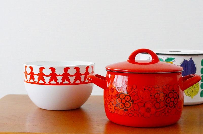 北欧/雑貨/食器/フィネル/鍋/両手鍋/ヴィンテージ/アンティーク/キッチン/インテリア/