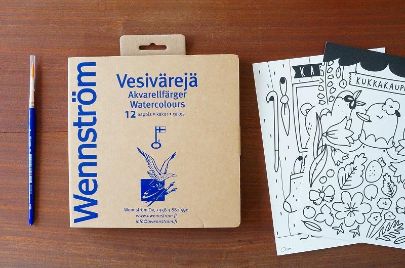 北欧雑貨/北欧/雑貨/絵の具/水彩絵の具/画材/ウェンストロム/フィンランド