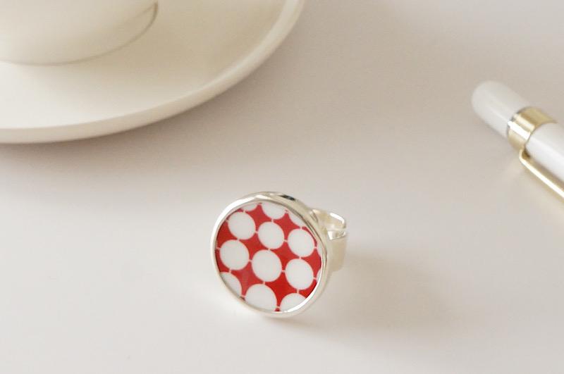 北欧雑貨/北欧/アクセサリー/指輪/リング/指輪/エバ/北欧ヴィンテージ食器/ファッション雑貨/雑貨/ジュエリー