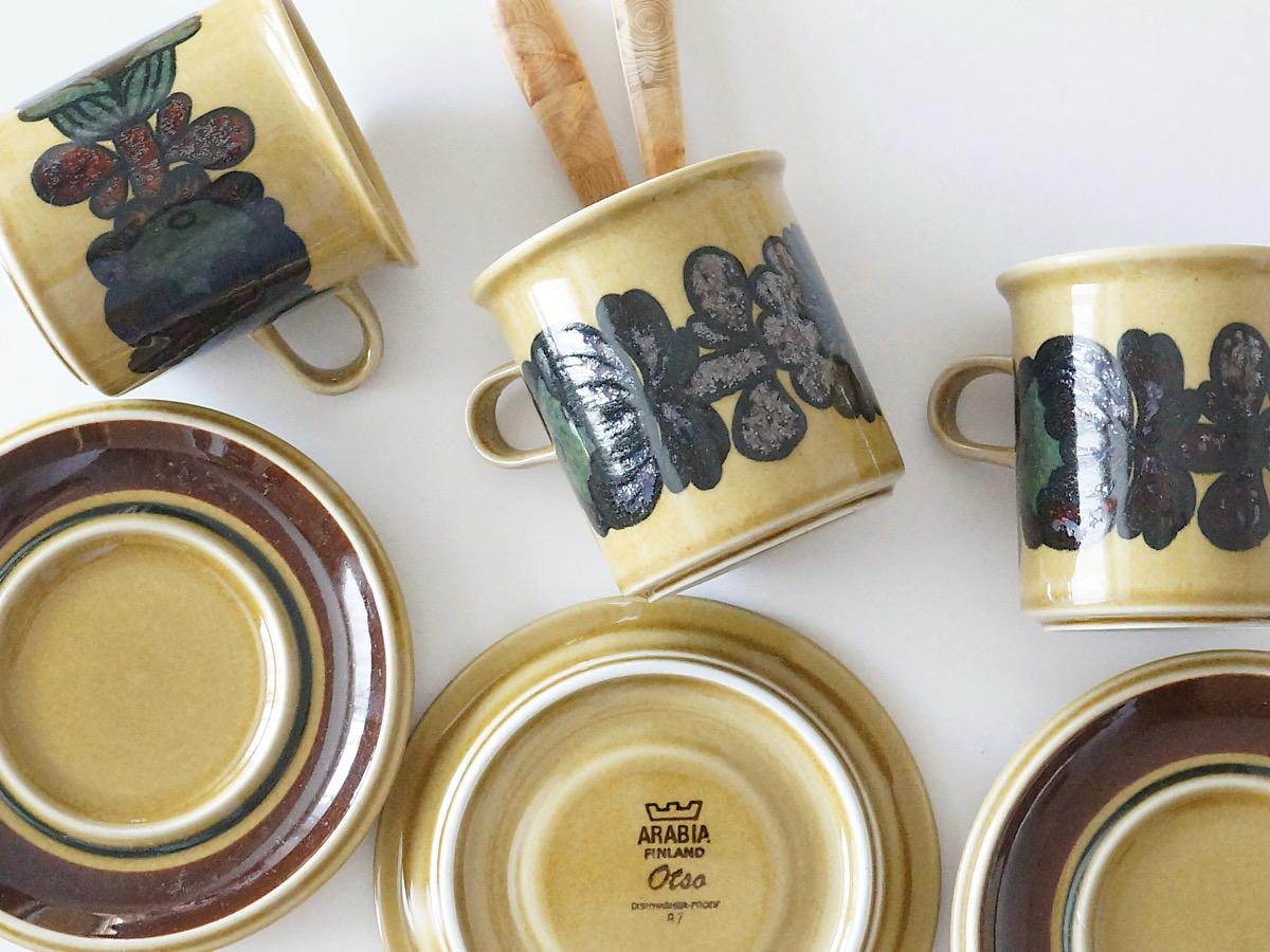 北欧食器/北欧雑貨/北欧/食器/雑貨/arabia/otso/アラビア/オトソ/マグカップ/カップ&ソーサー/モーニングカップ&ソーサー/ヴィンテージ/キッチン/インテリア