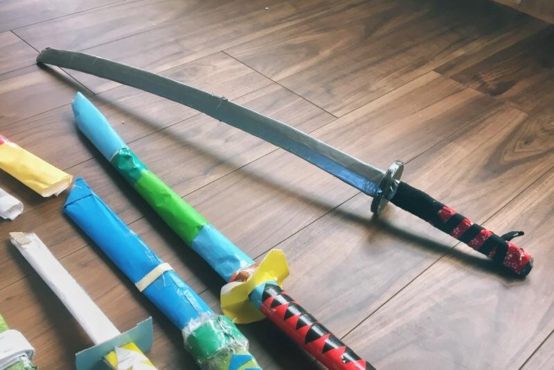 炭治郎,日輪刀,手作り,100均