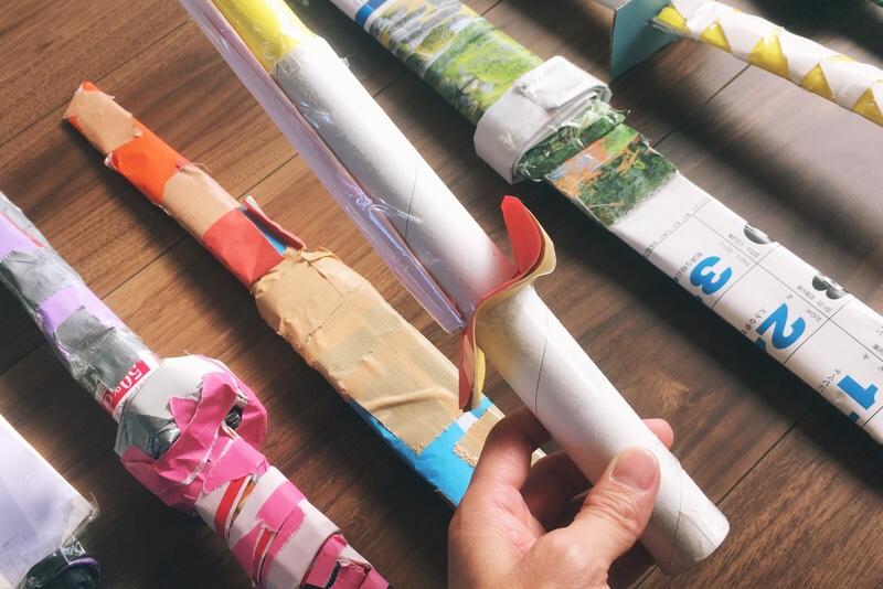 手作り剣,サランラップの芯