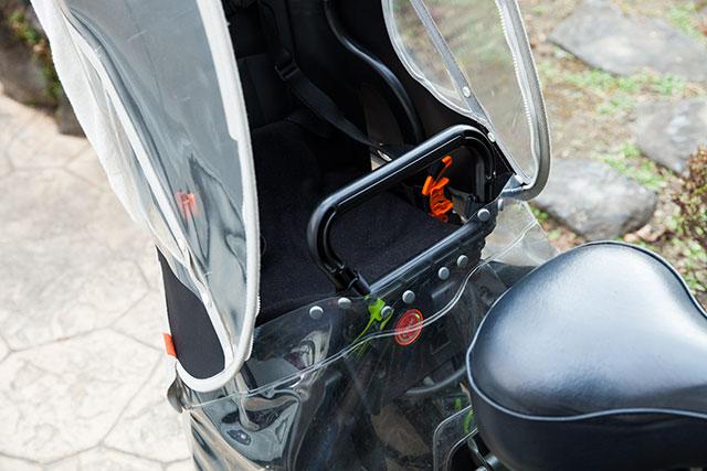 自転車チャイルドシート用カバー手作り