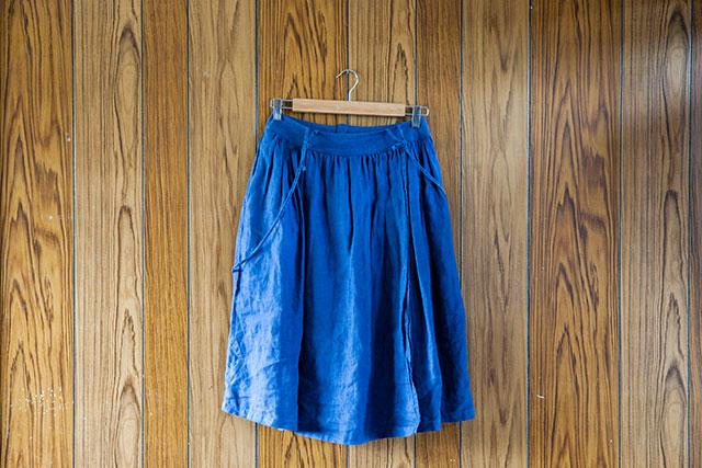 リメイク,カシュクールワンピースからギャザースカート