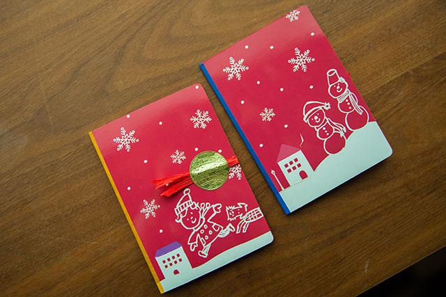 クリスマスカード手作り