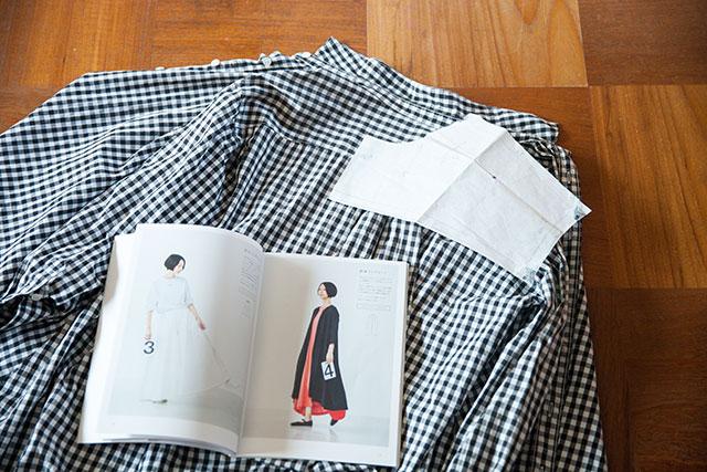 ギンガムチェックシャツワンピース型紙作り