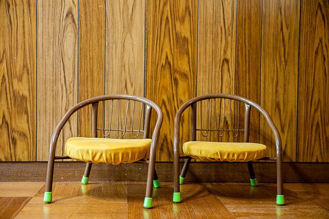 豆椅子カバー手作り座面高さ調整
