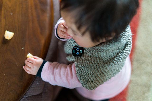 子供用マフラー手作りガーター編み
