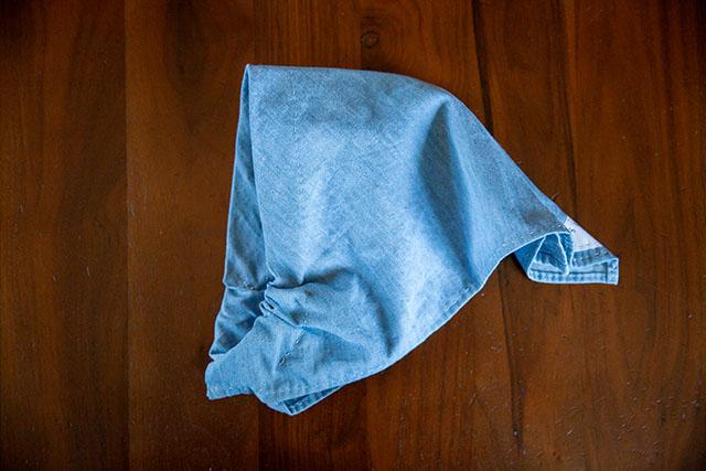 三角巾ゴム簡単仕立て