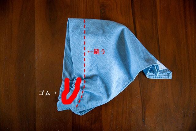 三角巾ゴム簡単仕立て作り方