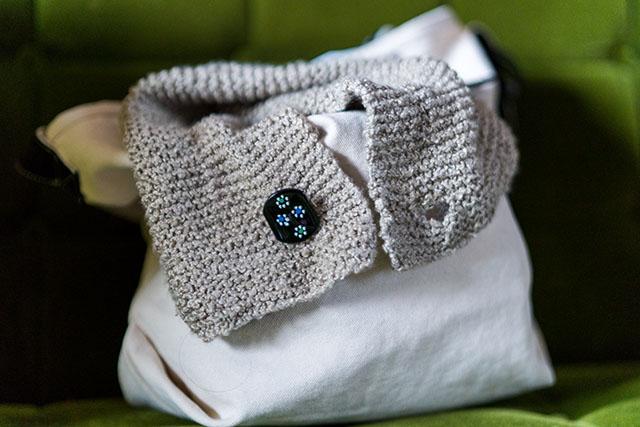 ガーター編みスヌード手作りネックウォーマーマフラー