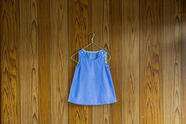 ハンドメイド子供服90サイズのノースリーブワンピース