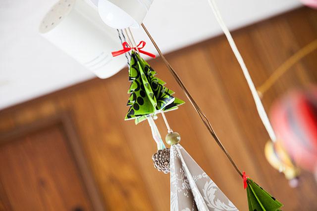 北欧柄ペーパー,クリスマスツリー,手作り