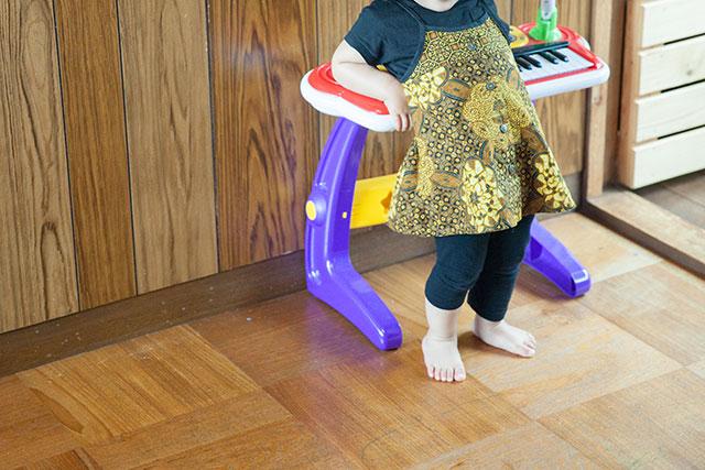 子供服ワンピースリメイク-ワンサイズアップ
