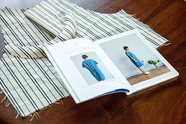 Check&Stripeの手作りワンピース
