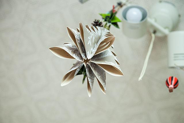 手作りクリスマスツリー,下から見た図