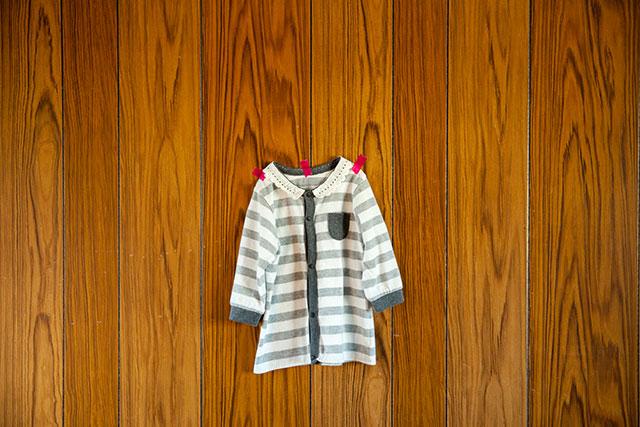 ベビー服カバーオールをリメイク・ワンサイズアップ方法