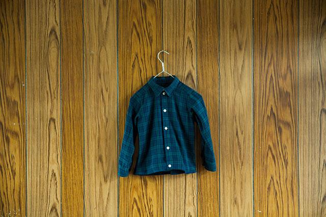 ハンドメイド子供服,ベーシックなチェックシャツ