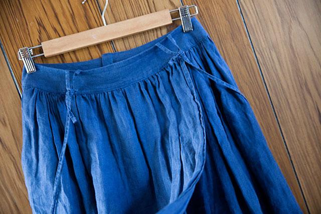 リメイク,カシュクールワンピースからギャザースカート、ラップ部分