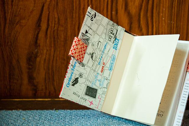 手帳カバー作り方・差し込みポケット