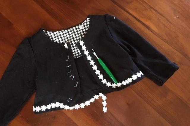 女の子服80サイズ黒ボレロカーディガン