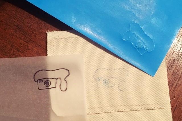 刺繍,生地に図案を写す方法