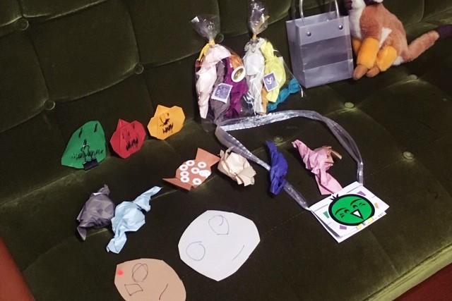 子ども手作りハロウィングッズ折り紙