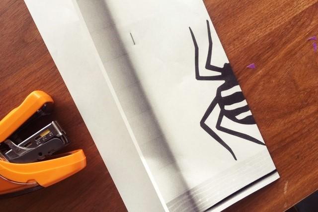 切り紙クモ作り方,図案,今森光彦