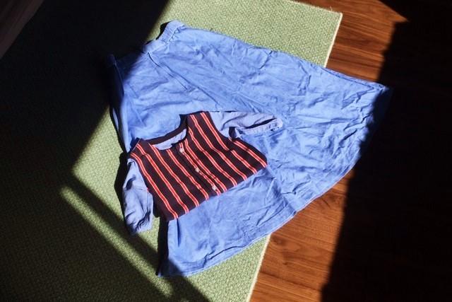 子供服リメイク-スモックにスカートを付けたい