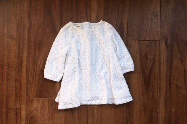 女の子服80サイズ白レースワンピース