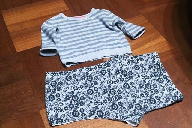 子供服リメイク,パンツからスカートへ