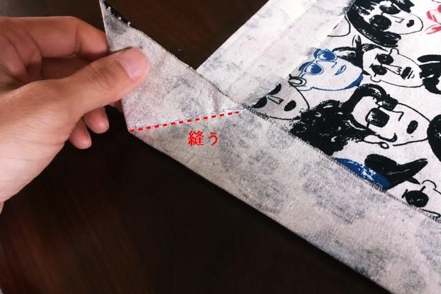 ランチマット額縁縫い簡単な作り方2