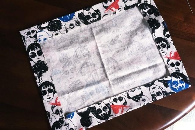 ランチマット額縁縫い簡単な作り方3