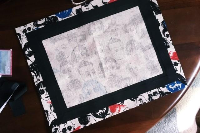 ランチマット額縁縫い簡単な作り方5