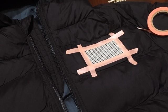 ナイロン地に刺繍,抜きキャンパスの使い方