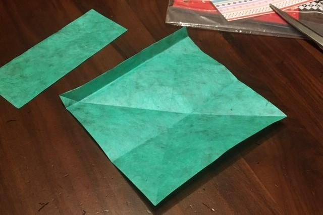 和紙の便箋,グリーン