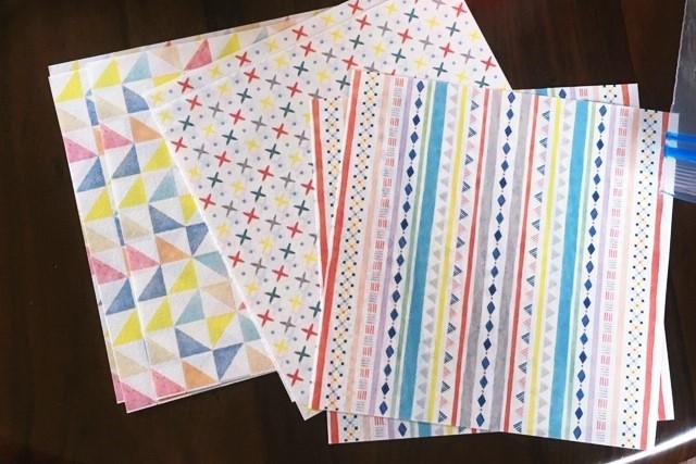 100均ダイソー折り紙,柄つき,千代紙