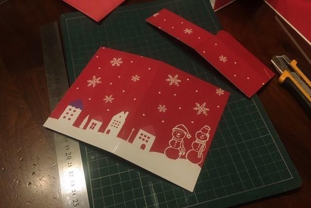 クリスマスカード作り方1