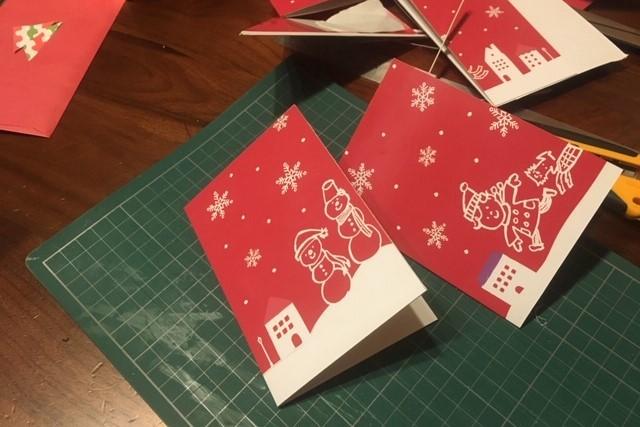 クリスマスカード作り方2