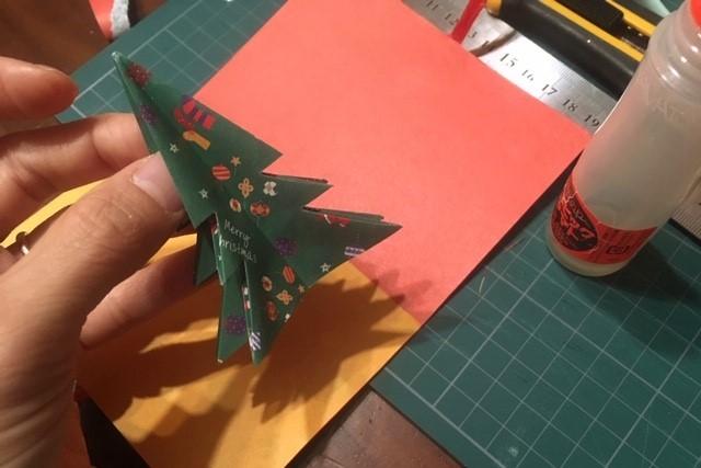 クリスマスカード作り方6