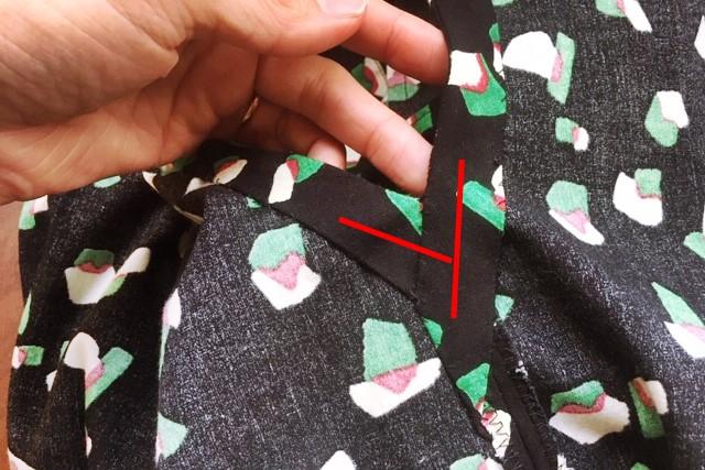 初心者の袖のきれいなバイアステープの付け方