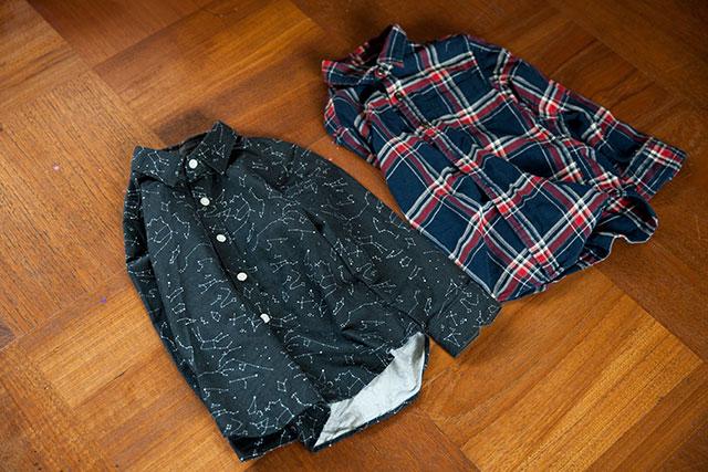 ハンドメイドシャツとユニクロシャツ比較