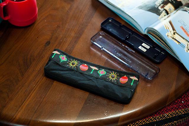 手作りの布製カトラリーケース