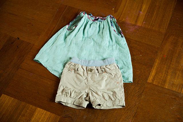 リメイクの子供服,80サイズ女児