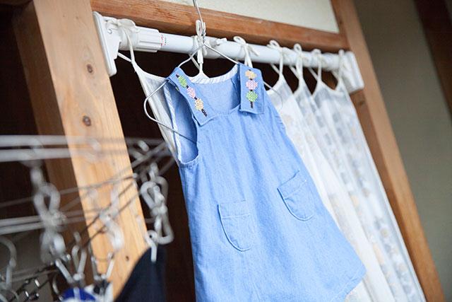 三色団子のクロスステッチ刺繍,子供服ワンピース