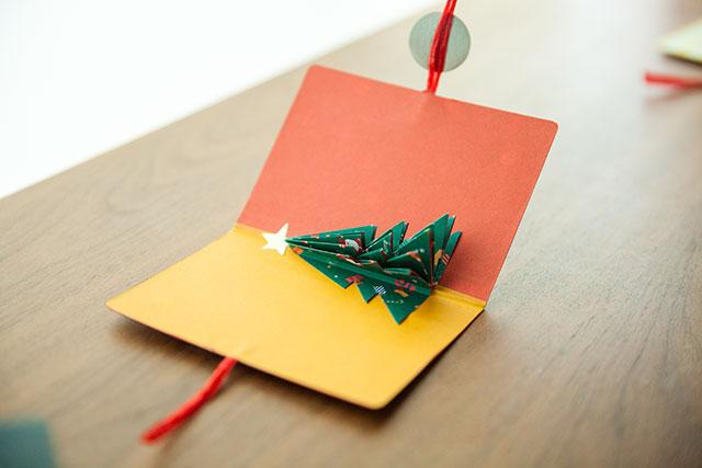 ポップアップカード手作りクリスマスツリー簡単