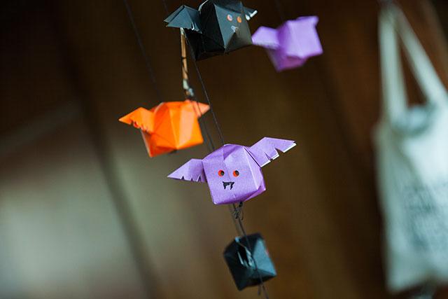 折り紙,羽根つき風船,アレンジ,コウモリ
