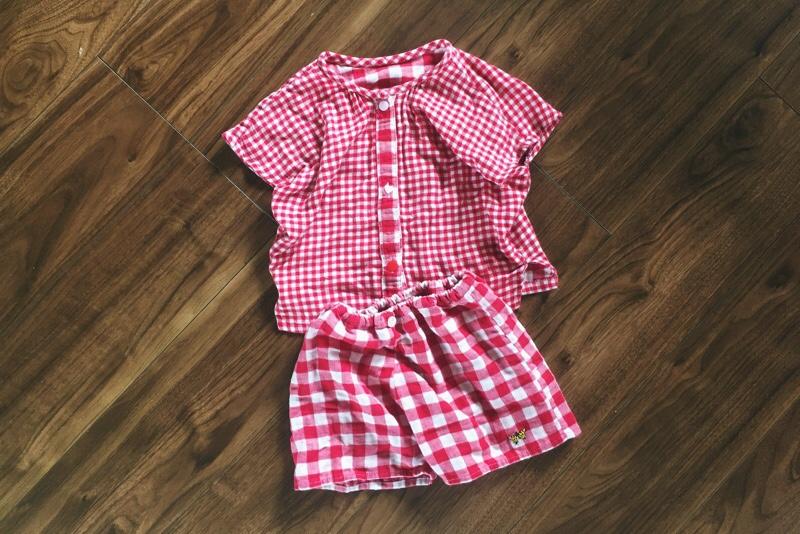 パジャマリメイク,子供用夏用パジャマ